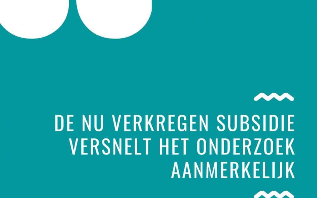 Subsidie voor onderzoek